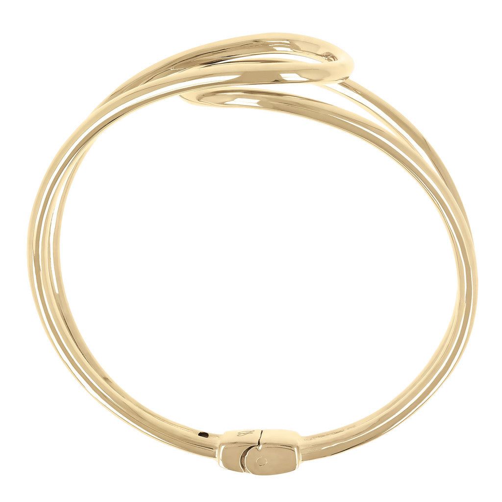 Infinity Open Yellow gold bangle Bronzallure side