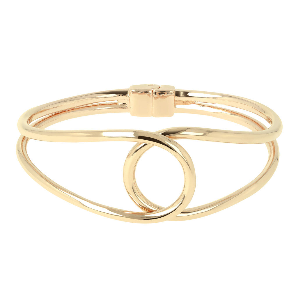 Infinity Open Bangle Bronzallure Yellow Gold