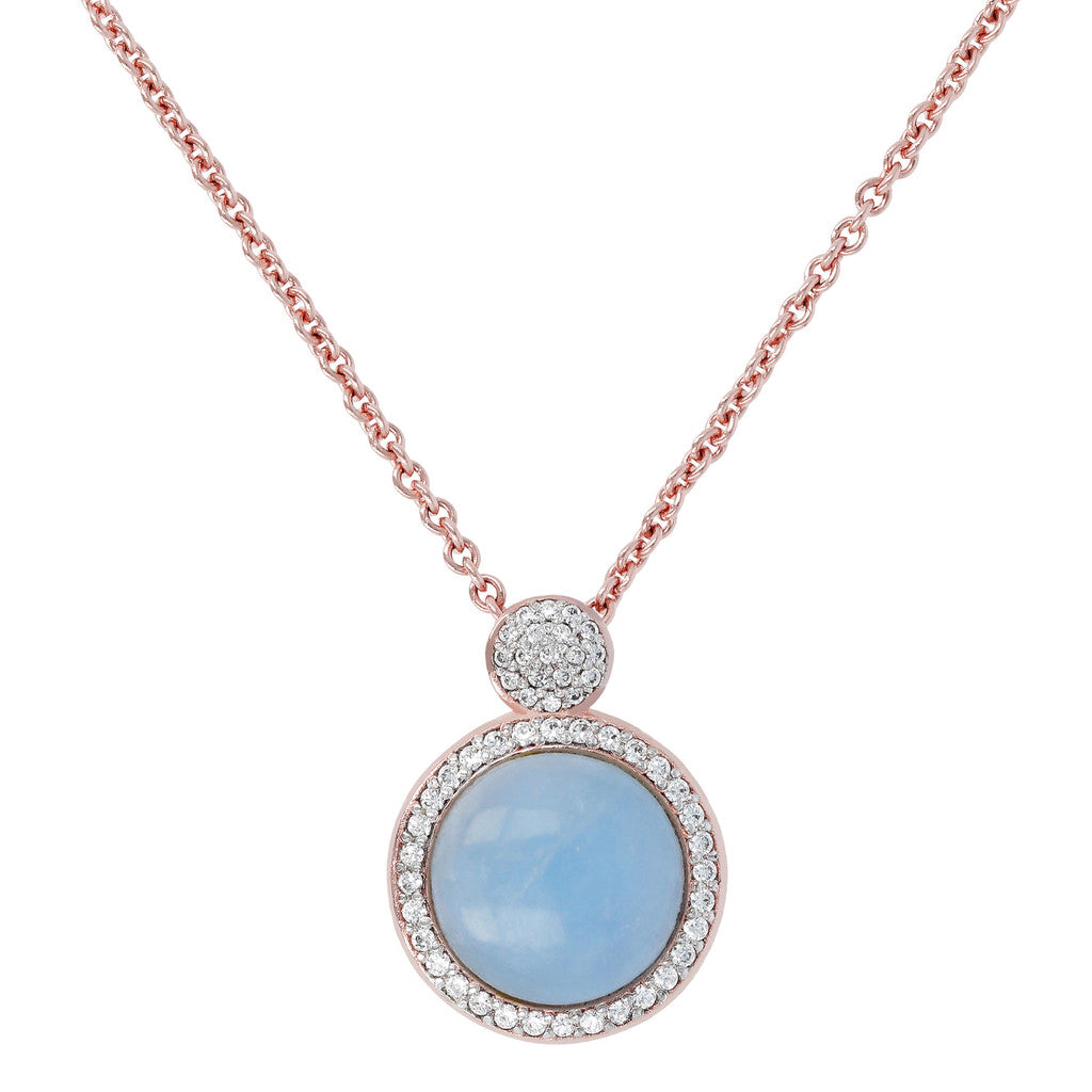 Italian Necklace MILKY AQUAMARINE