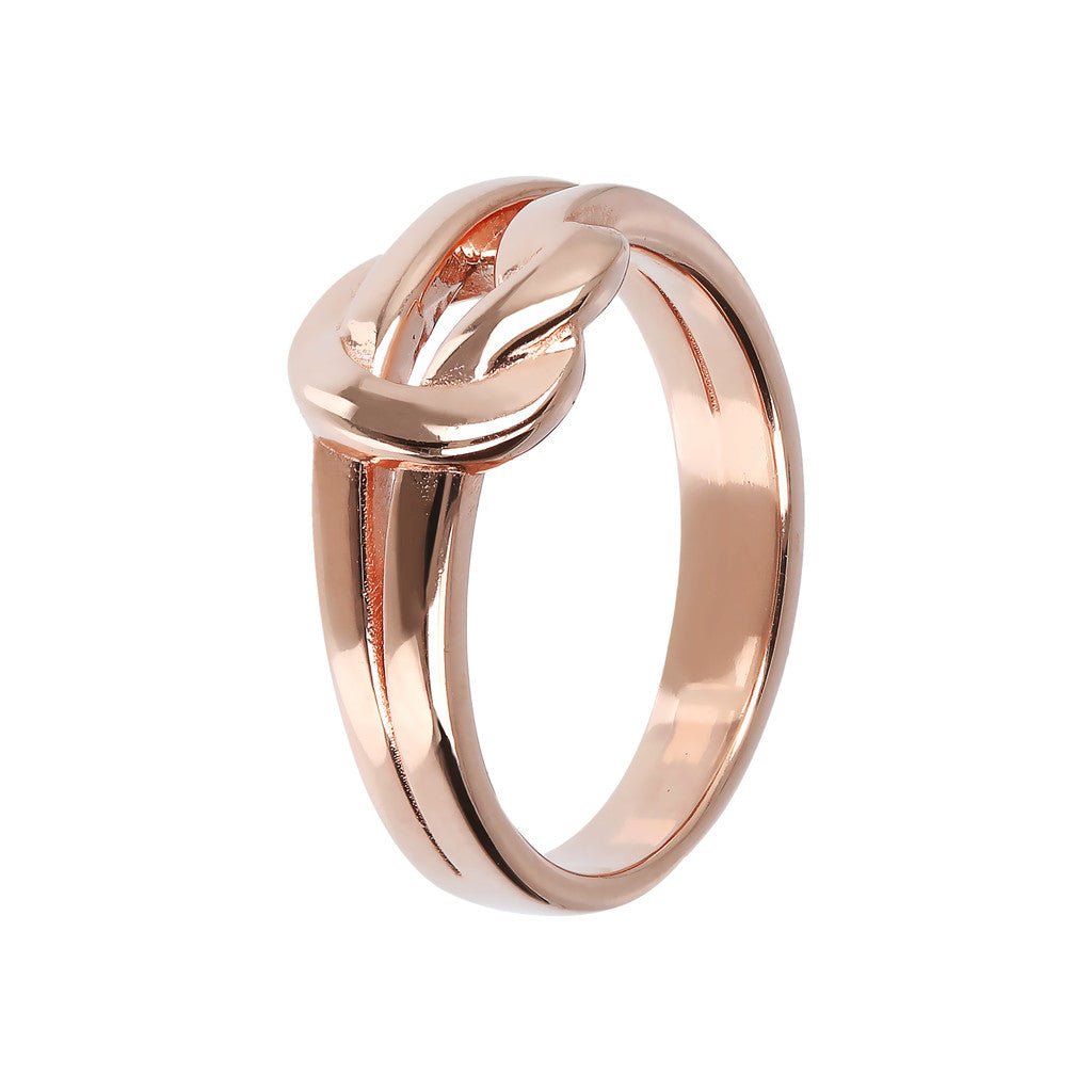 Bronzallure | Rings | Knot Ring Golden Rosè