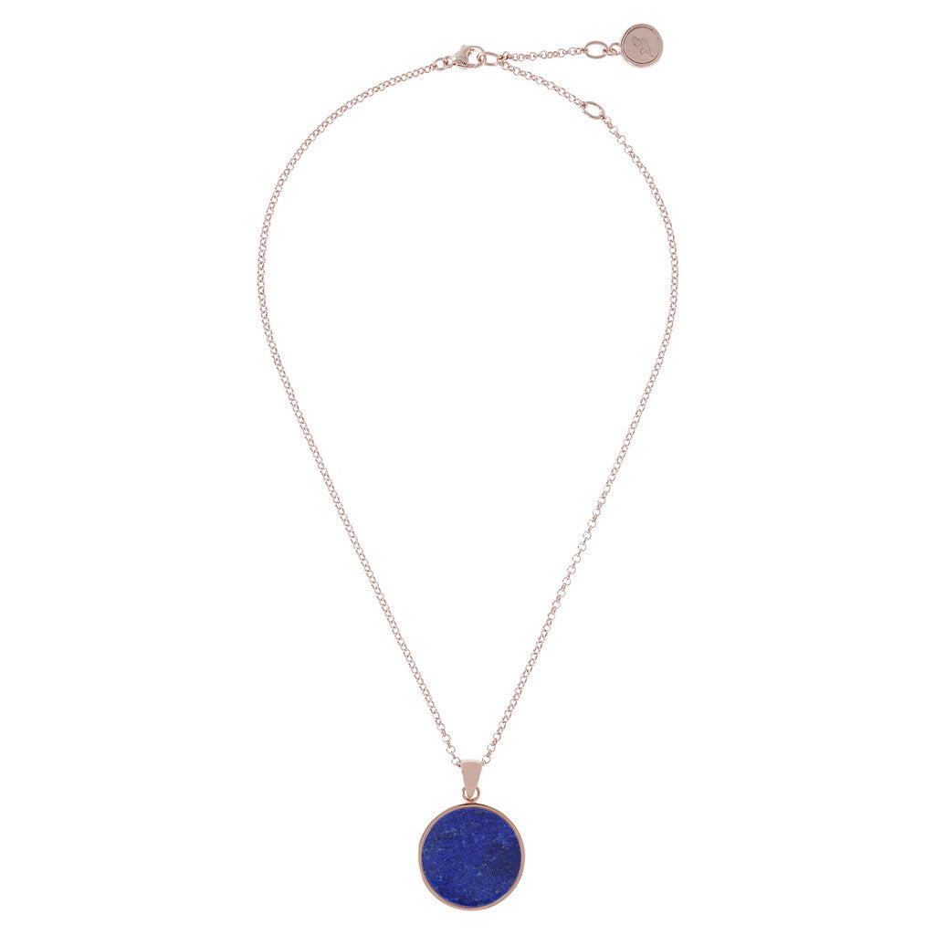 Lapis  Disc Necklace LAPIS from above