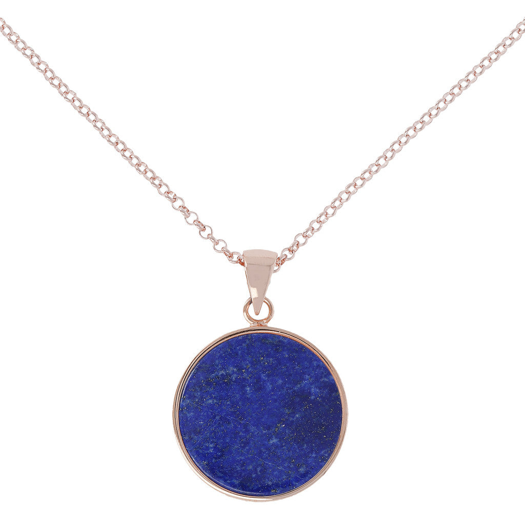Bronzallure | Necklaces | Lapis  Disc Necklace