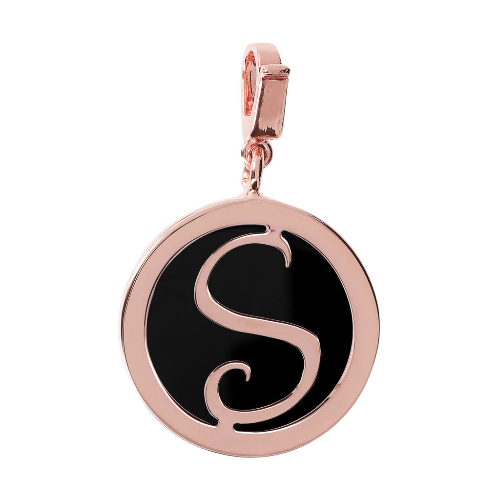 Letter Charm in Black Onyx BLACK ONYX-S