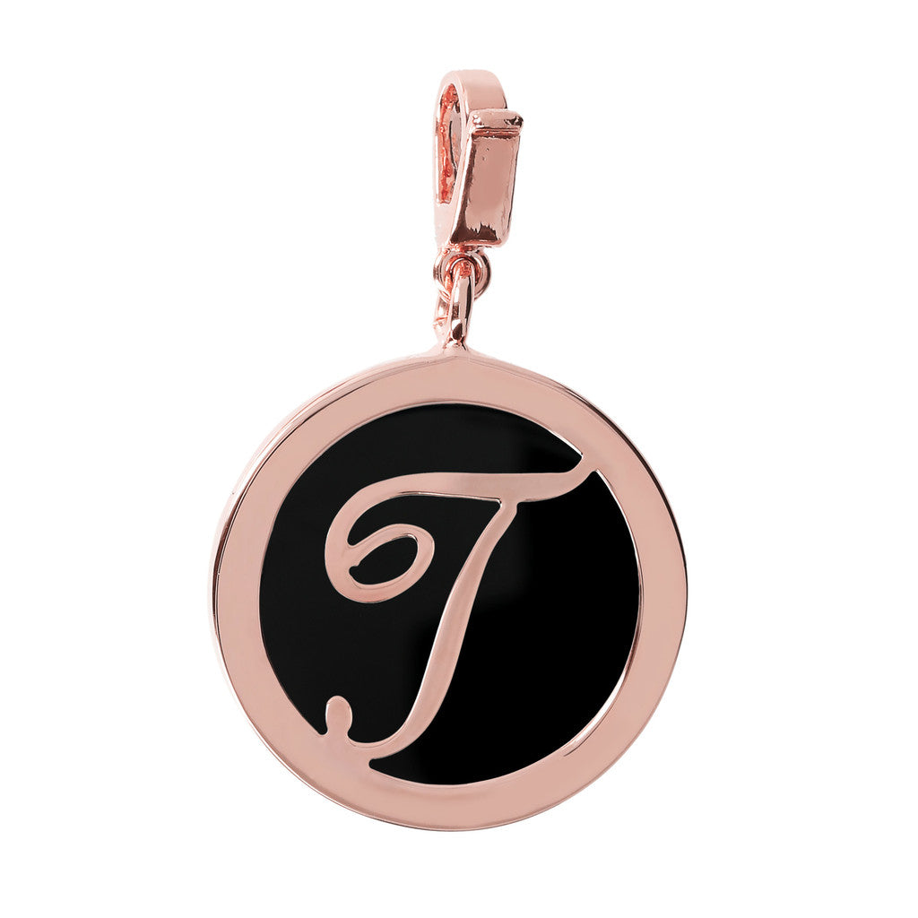 Letter Charm in Black Onyx BLACK ONYX-T