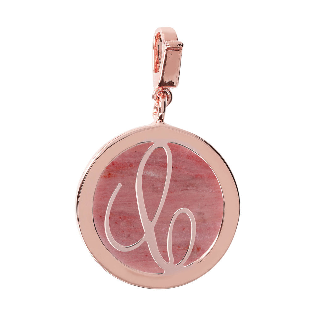 Letter Charm in Red Fossil Wood RED FOSSIL WOOD-C