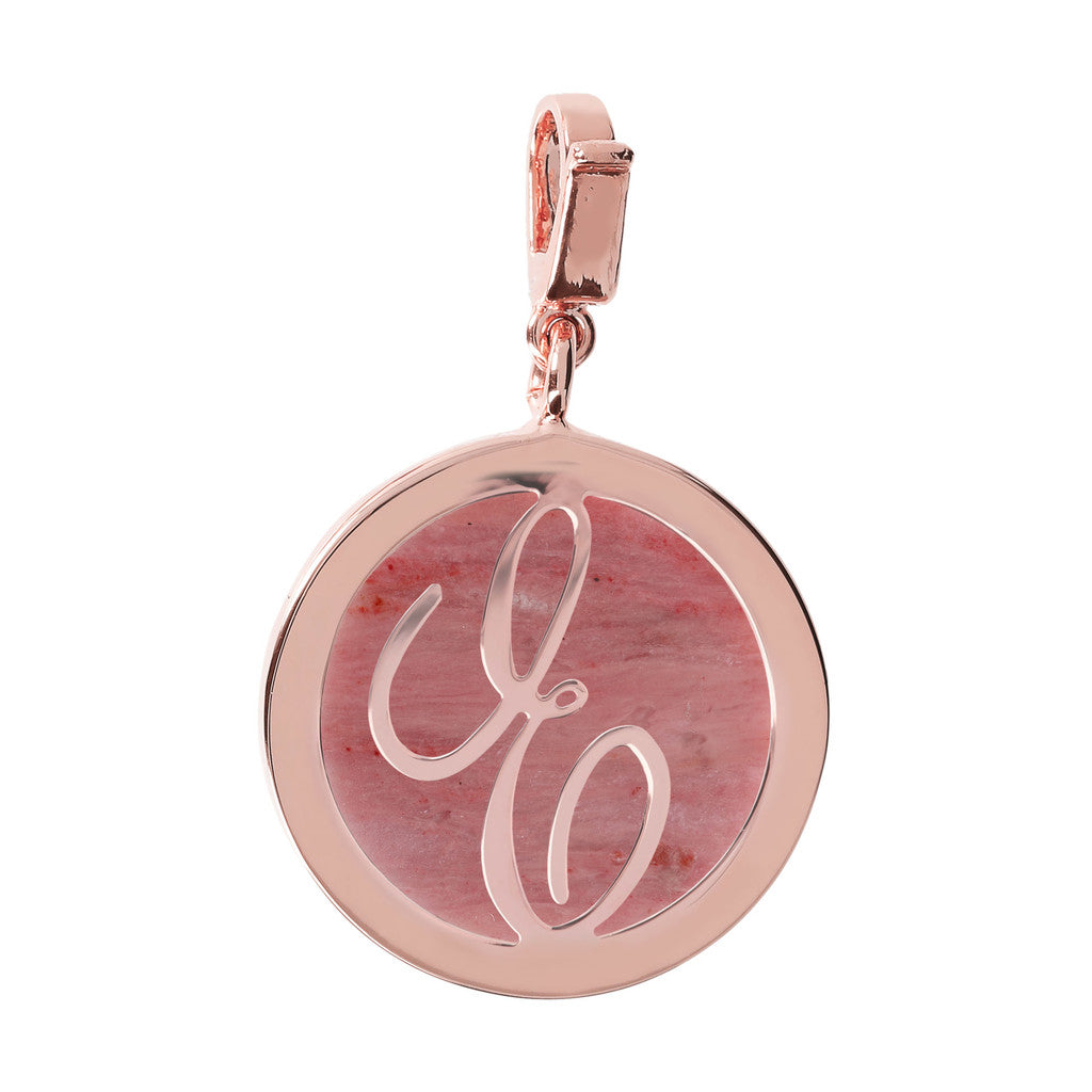 Letter Charm in Red Fossil Wood RED FOSSIL WOOD-E