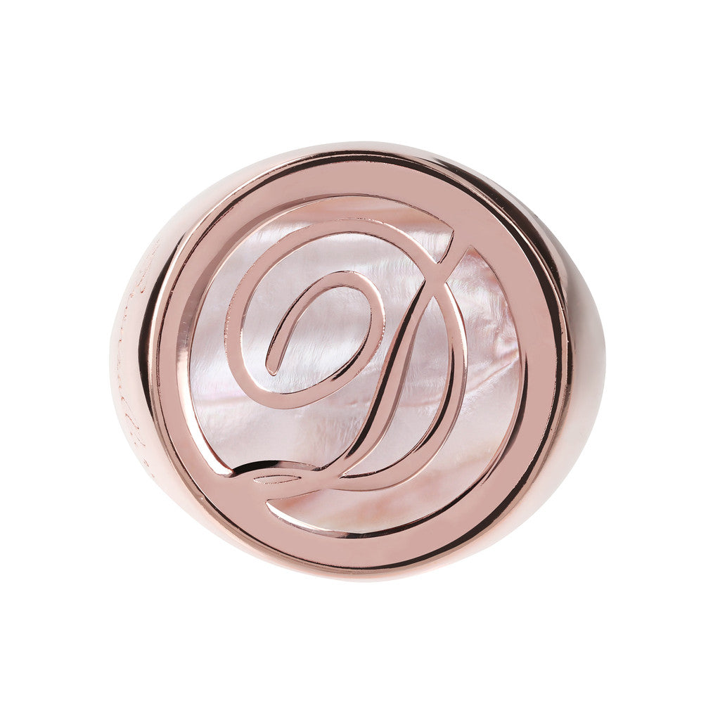 Letter d Ring PINK MOP setting