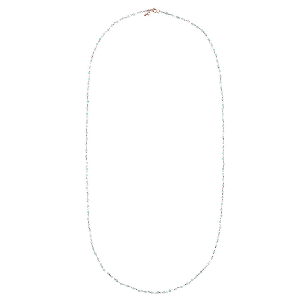Light Blue Quartzite Amorette Necklace from above