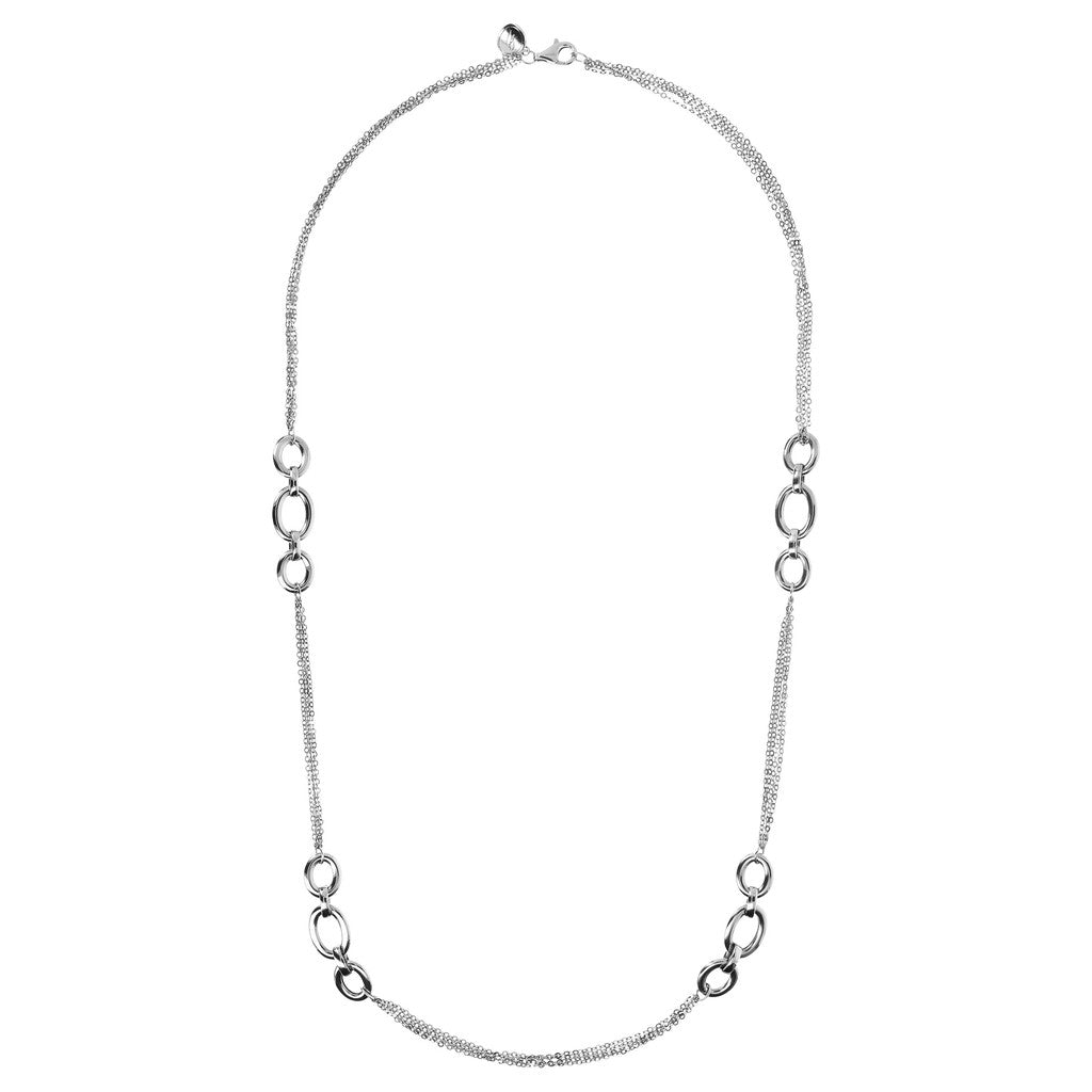 Infinity Necklace White Gold Luna from above