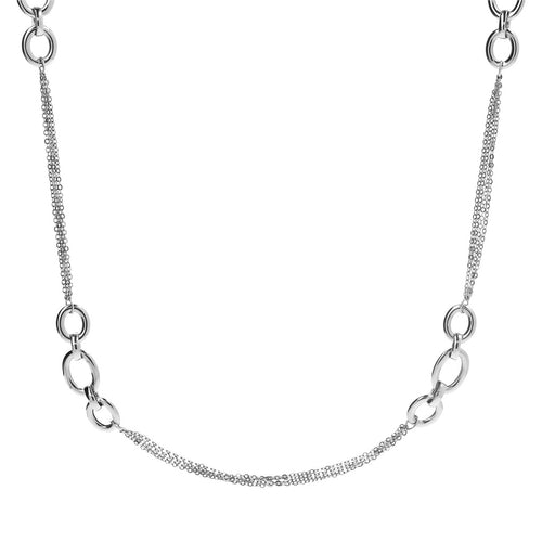 Infinity Necklace White Gold Luna