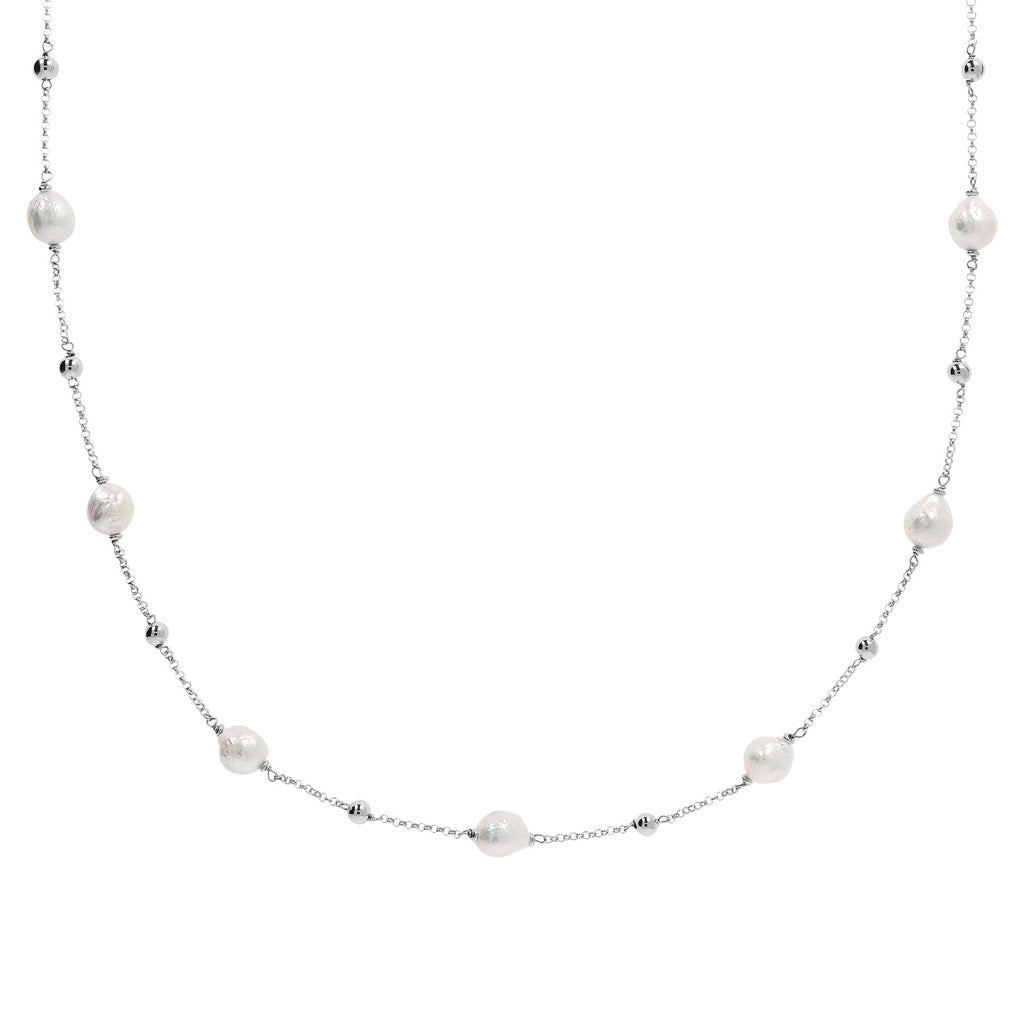 Long Necklace with Pearls Luna