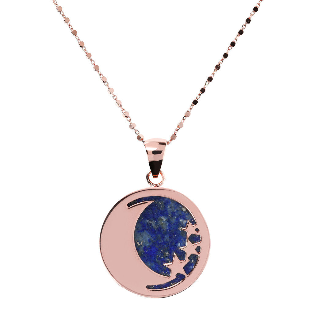 Lucky Token Moon Necklace