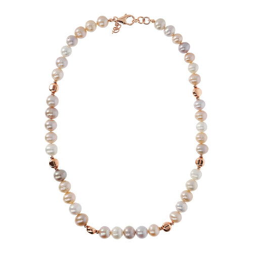 MAXIMA Necklace with pearl - WSBZ01697 from above