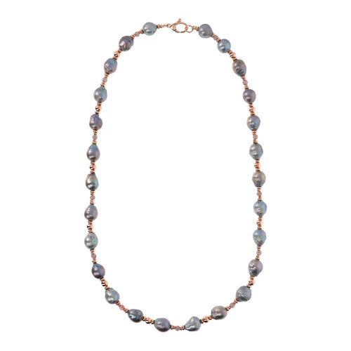 Bronzallure | Necklaces | MAXIMA POLISHED BEAD AND CULTURED PEARL NECKLACE - WSBZ01732