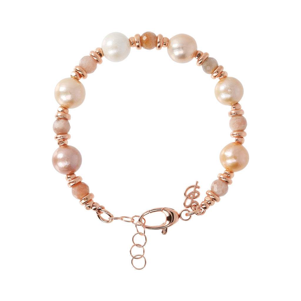 Ming Pearls and Moonstone Bracelet