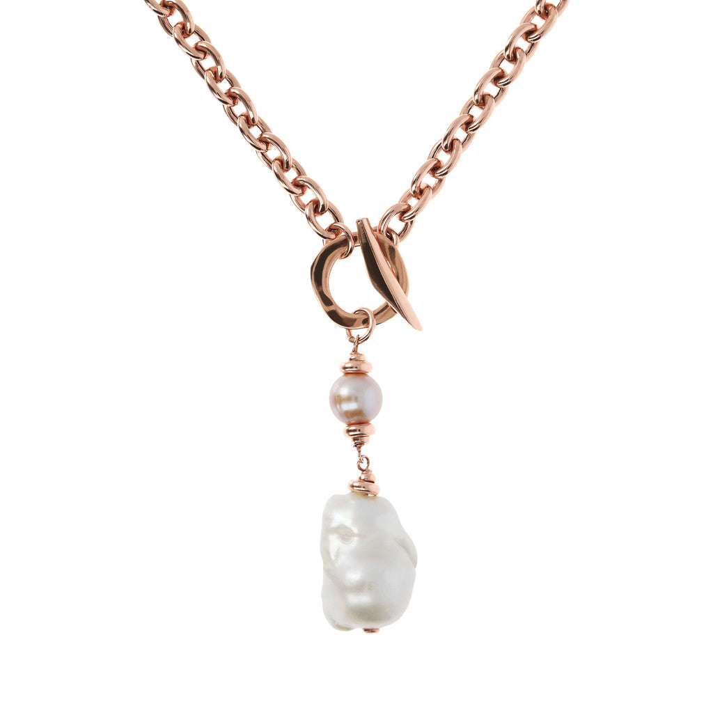 Bronzallure | Necklaces | Baroque Pearl Necklace