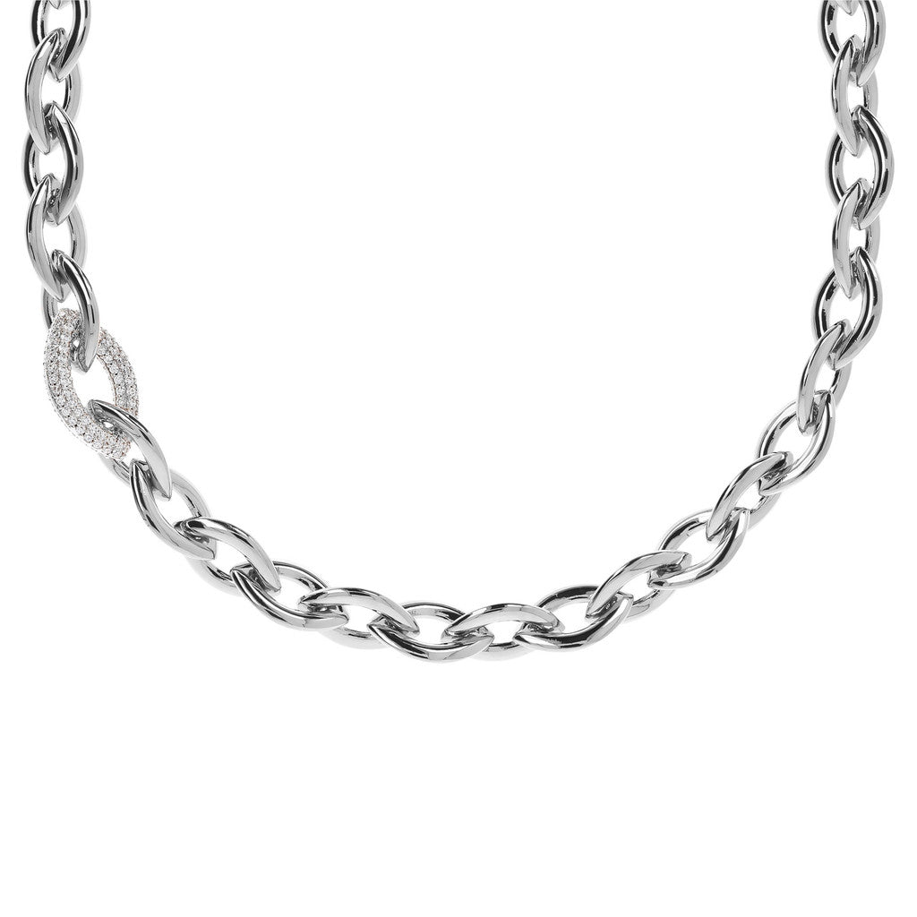 Marquise CZ Collier Necklace Luna from above