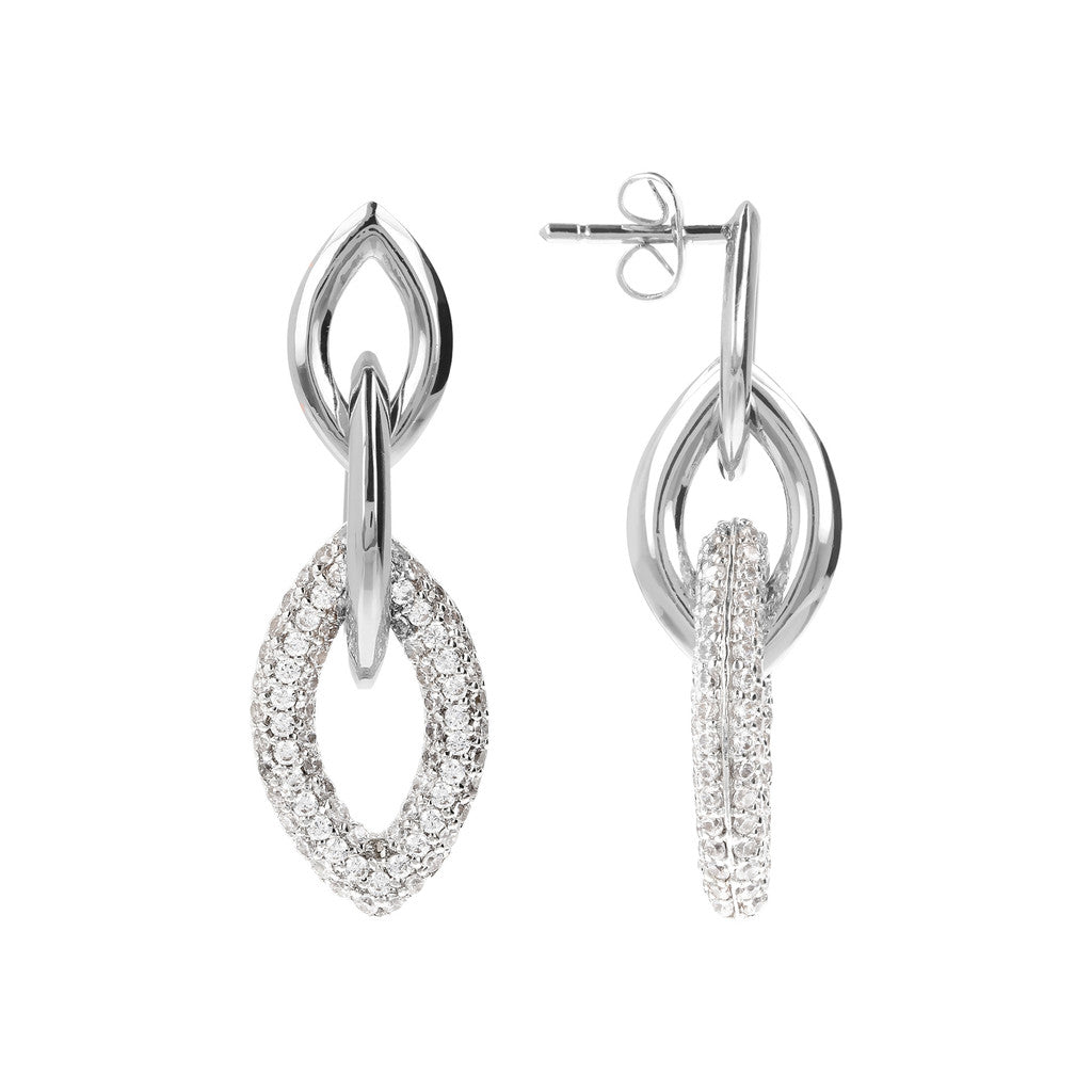 Marquise CZ Earrings Luna front and side