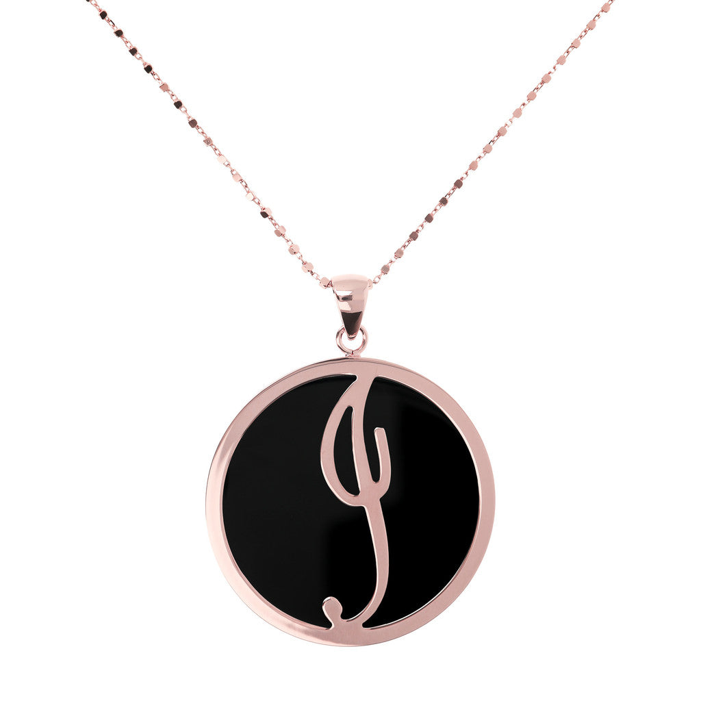Maxi Charm Necklace in Black Onyx BLACK ONYX-I