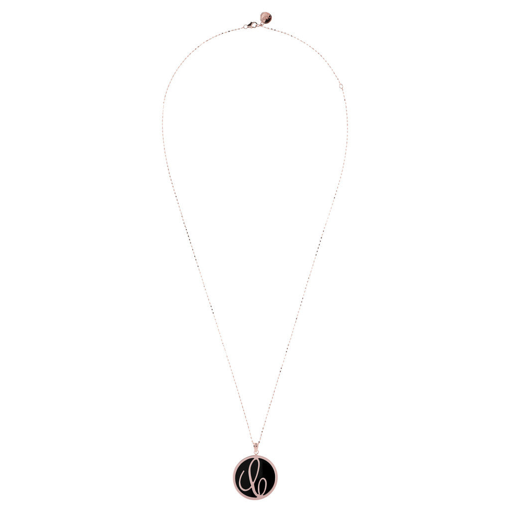 Maxi Charm Necklace in Black Onyx from above