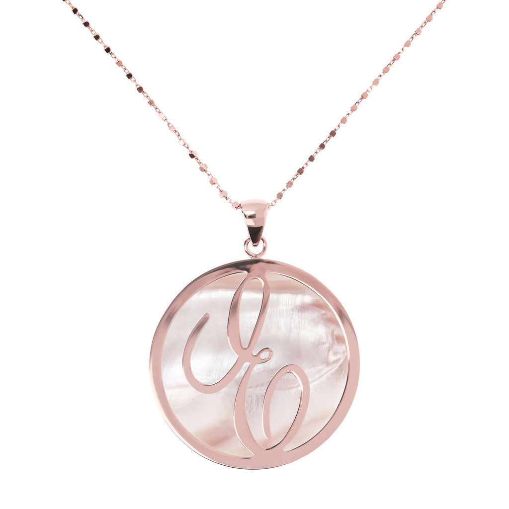 Maxi Charm Necklace in Mother of Pearl PINK MOP-E