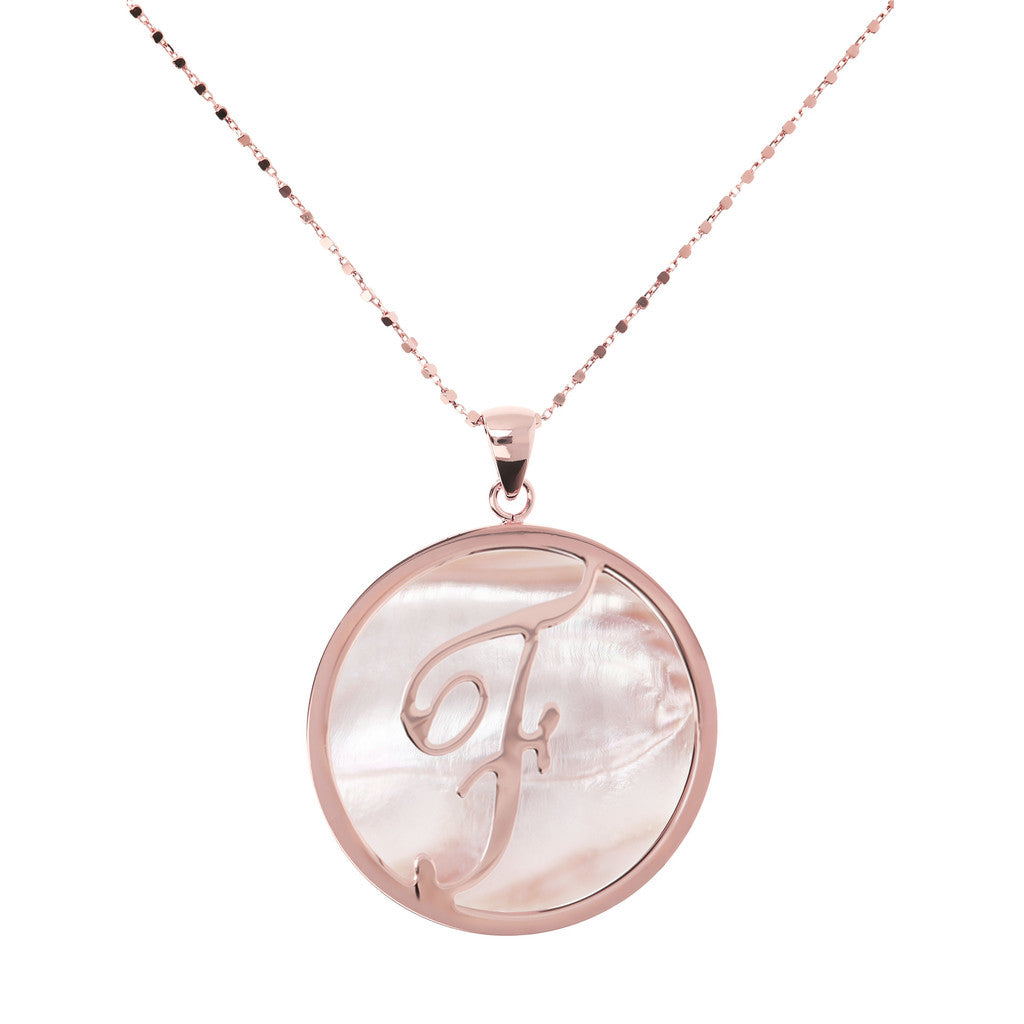 Maxi Charm Necklace in Mother of Pearl PINK MOP-F