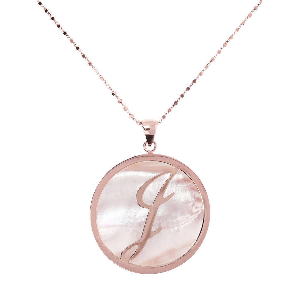 Maxi Charm Necklace in Mother of Pearl PINK MOP-J