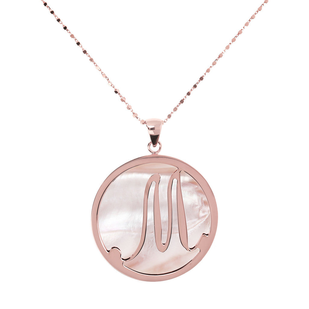 Maxi Charm Necklace in Mother of Pearl PINK MOP-M
