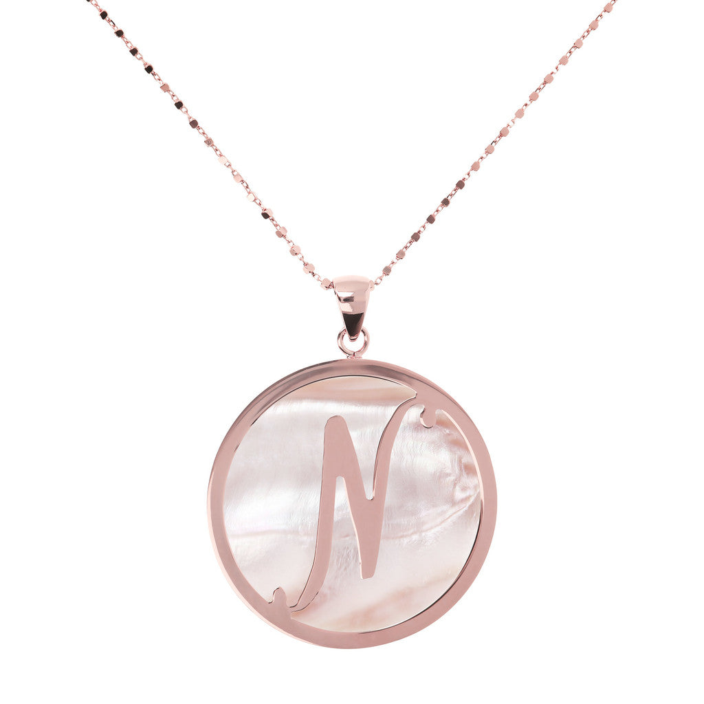 Maxi Charm Necklace in Mother of Pearl PINK MOP-N