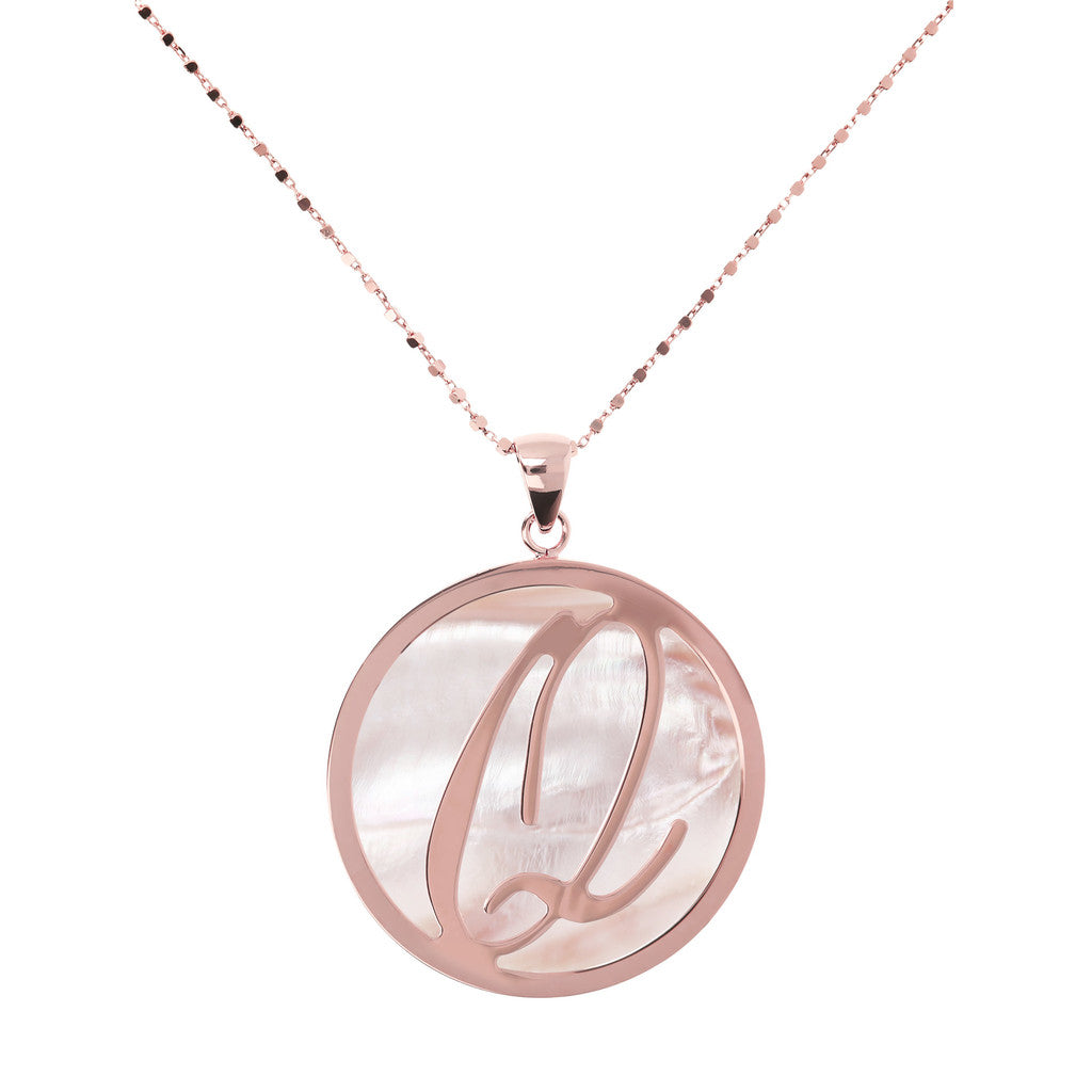 Maxi Charm Necklace in Mother of Pearl PINK MOP-Q