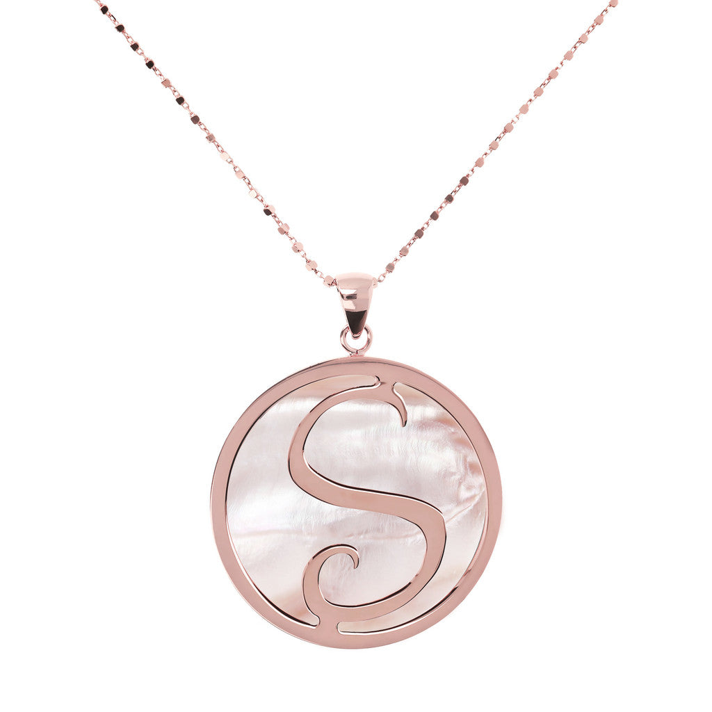 Maxi Charm Necklace in Mother of Pearl PINK MOP-S