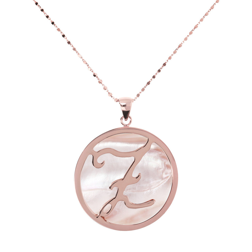 Maxi Charm Necklace in Mother of Pearl PINK MOP-Z