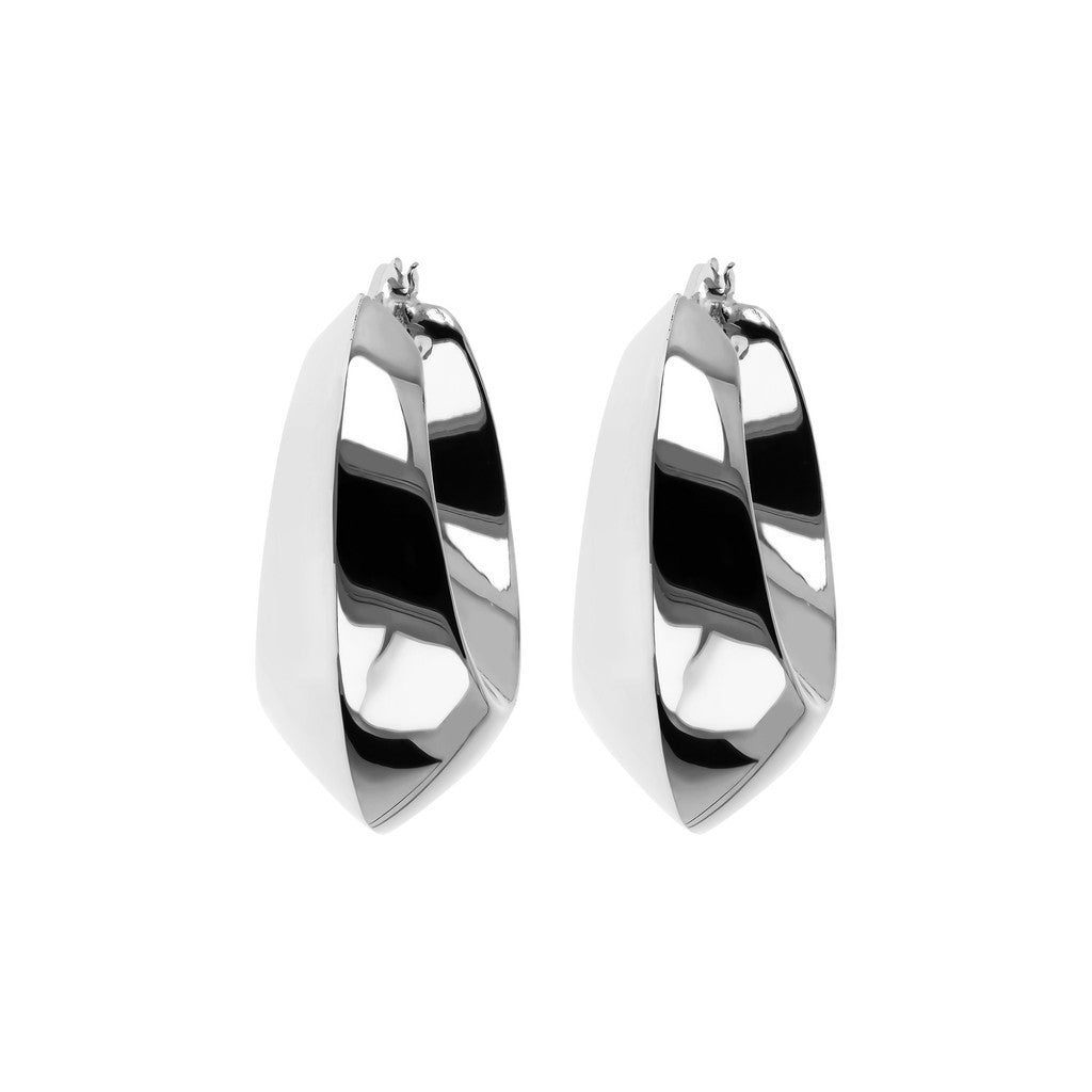 White gold hoops Luna