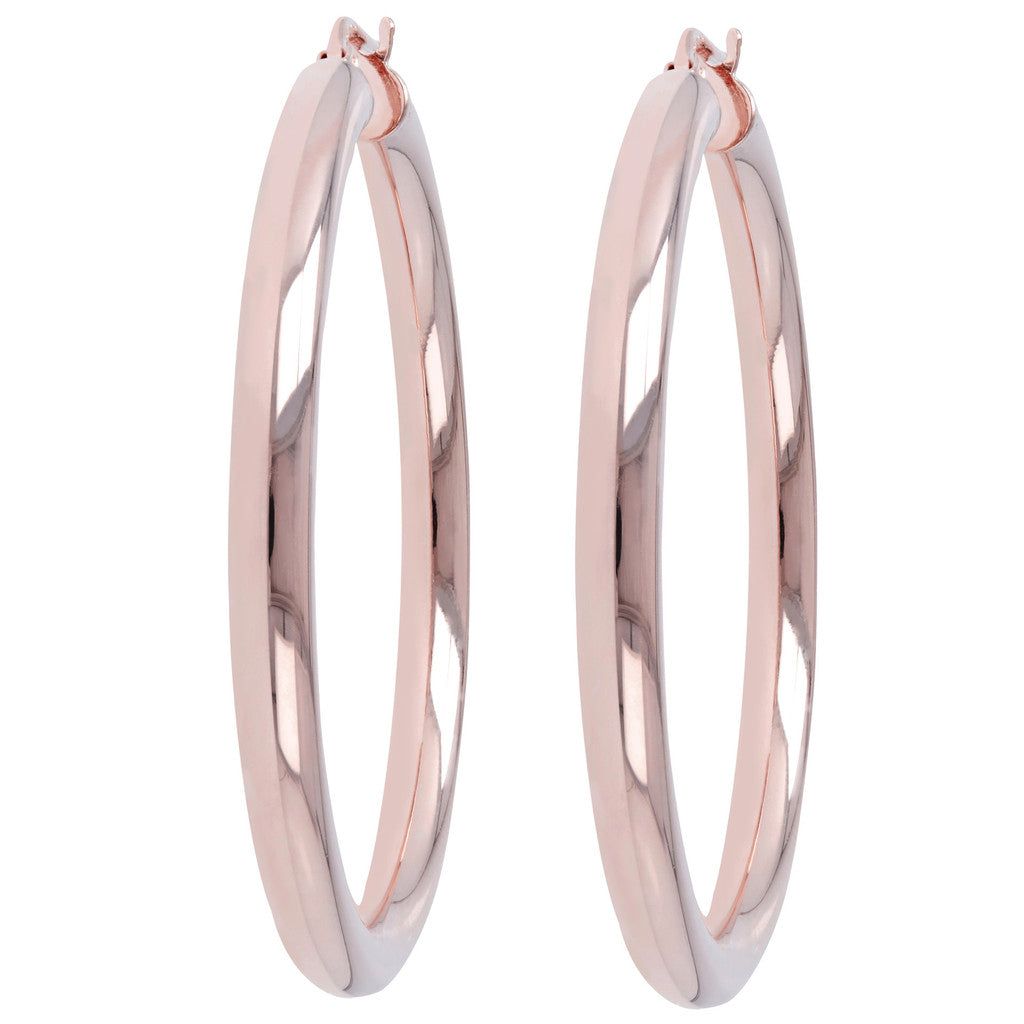 Medium Hoop Earrings front and side