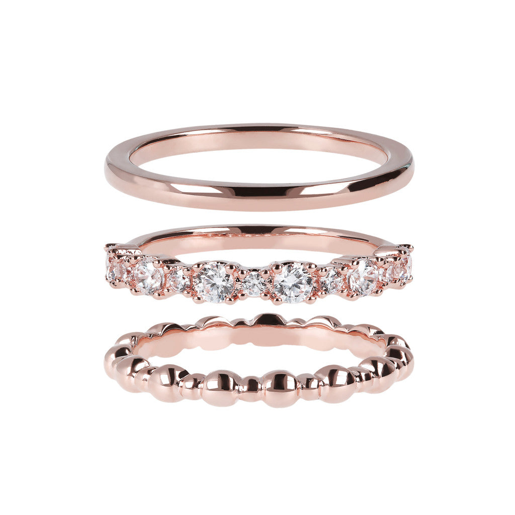 Micro Pave Stackable Rings