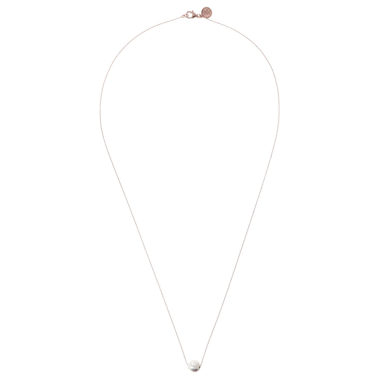 Single Pearl Long Chain Necklace