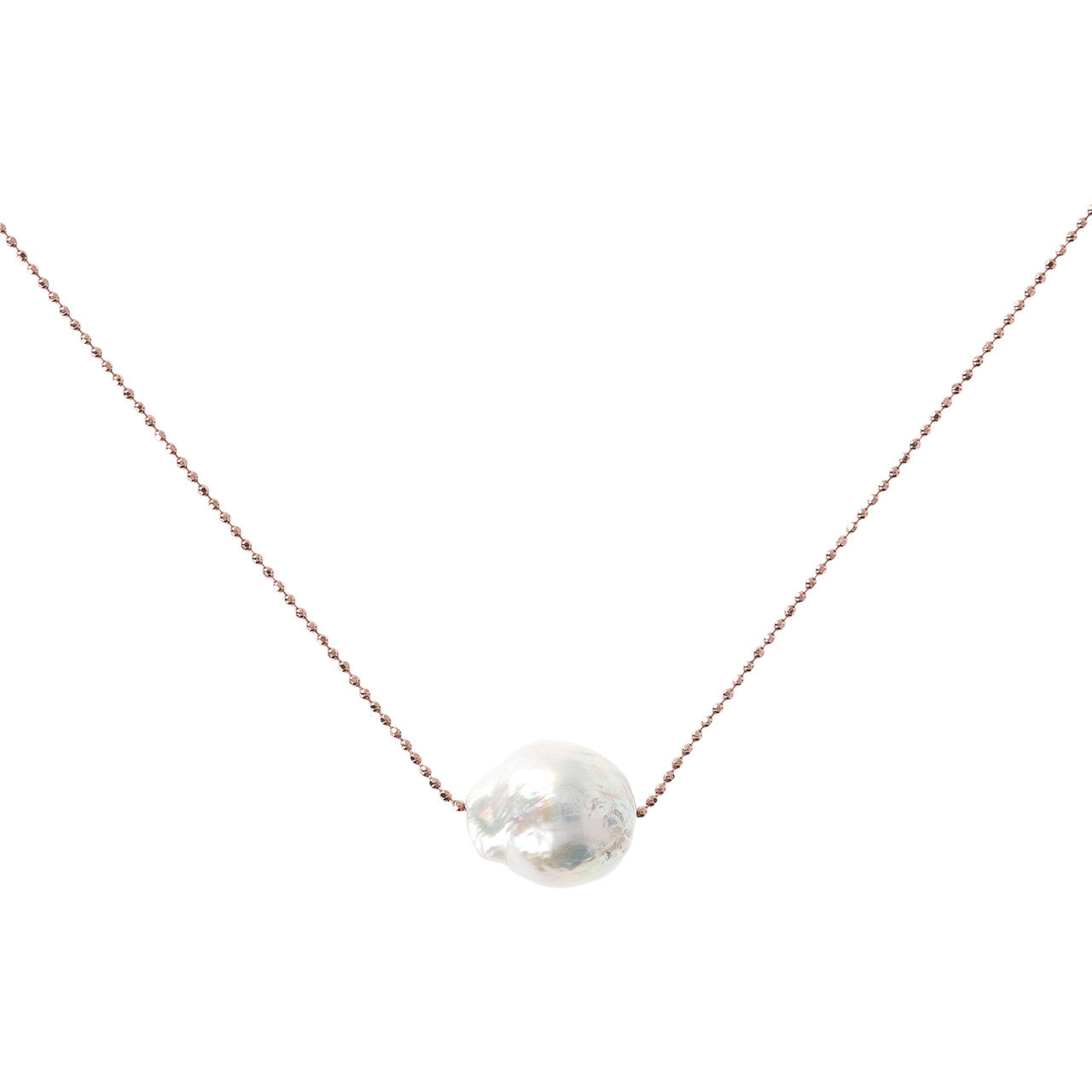 Pearl slide necklace WHITE PEARL