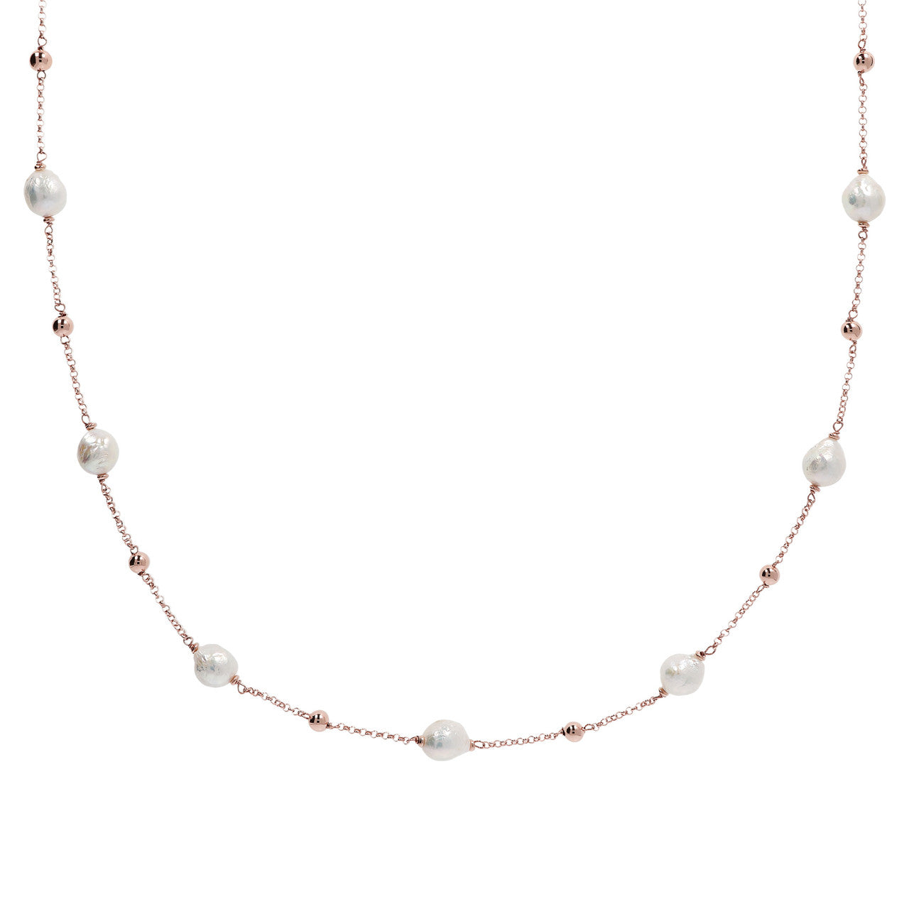 Ming Pearls Stationary Necklace Long