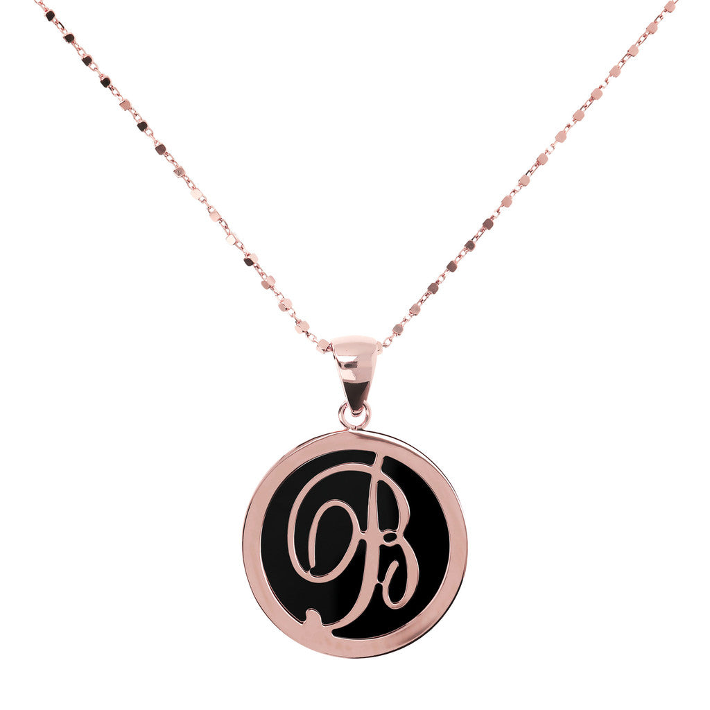 Letter b necklace in Black Onyx