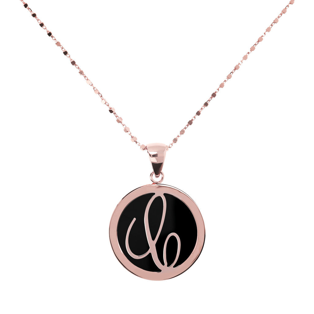 Letter c necklace in Black Onyx