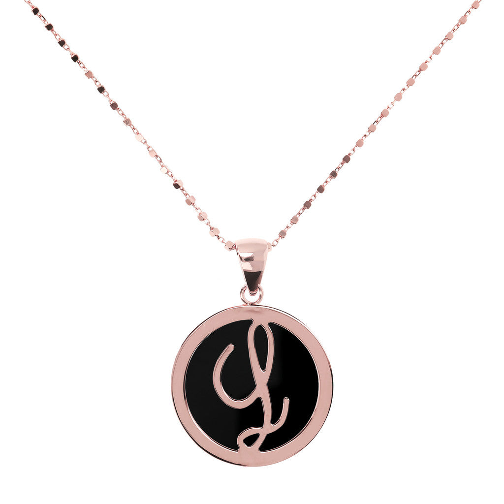 Letter g necklace in Black Onyx