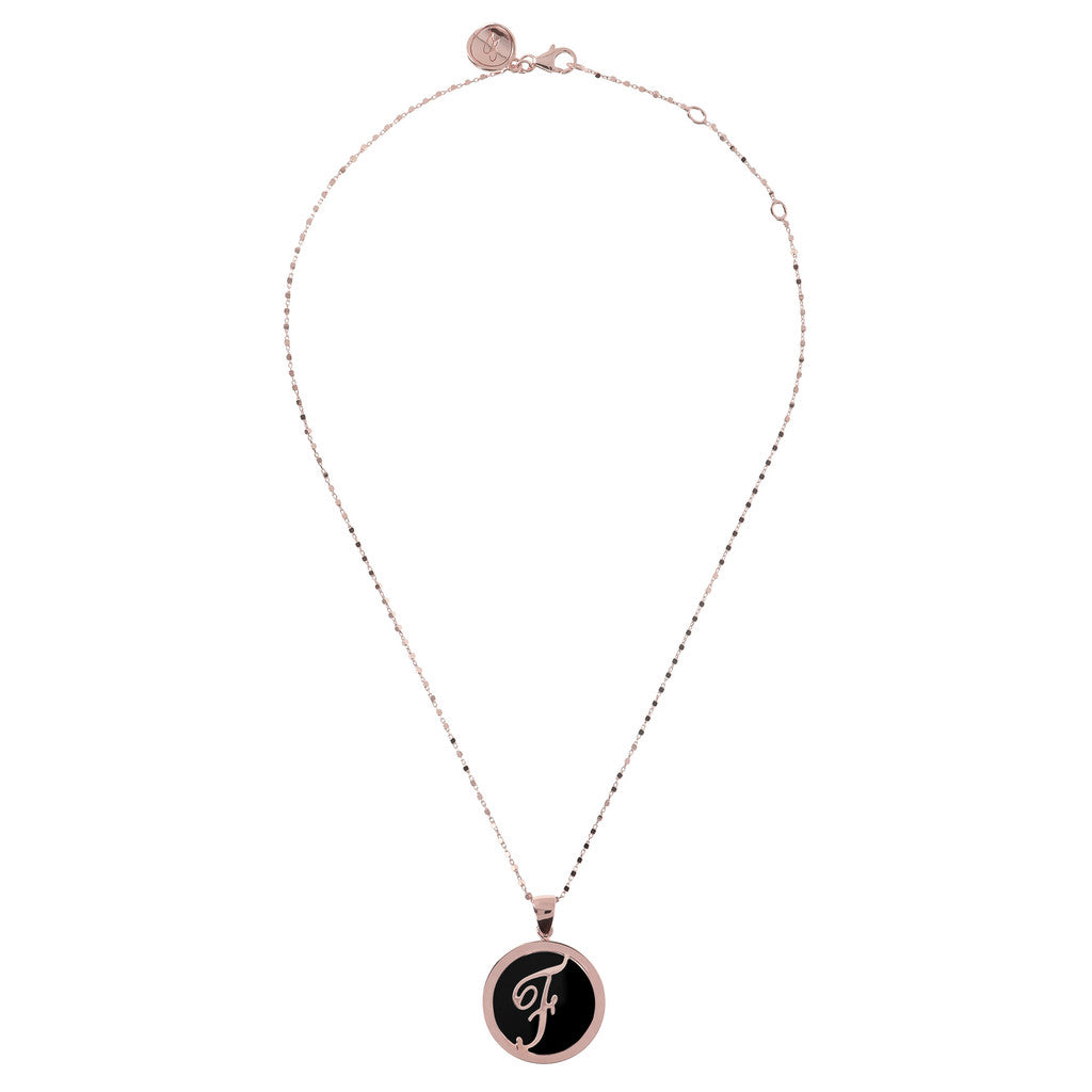 Mini Charm Necklace in Black Onyx from above