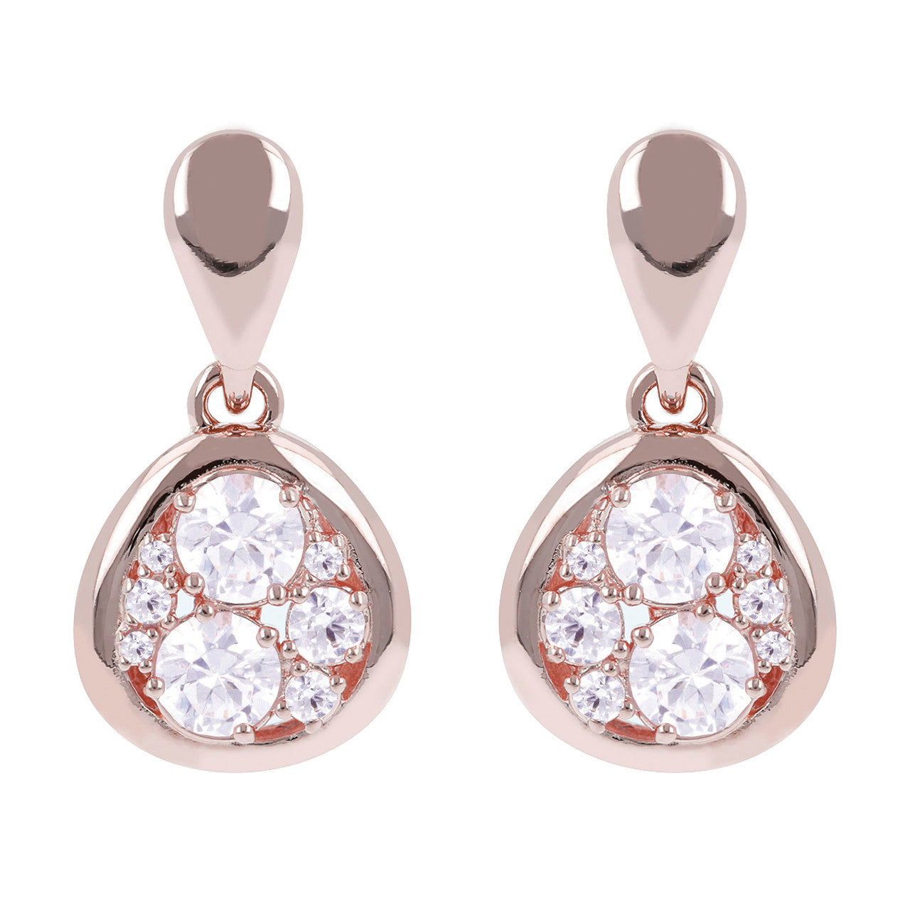 Moon Earrings CUBIC ZIRCONIA