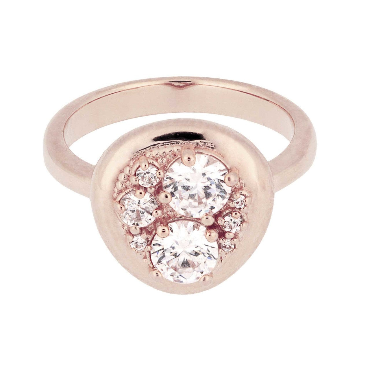Moon Ring CUBIC ZIRCONIA setting