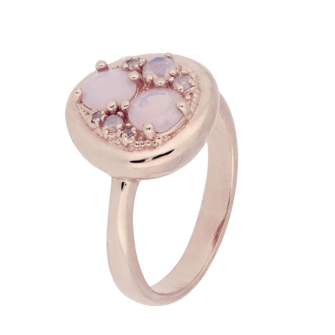 Moon Ring PINK OPAL