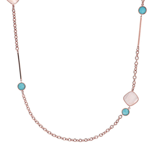 Mother of Pearl and Amazonite Necklace