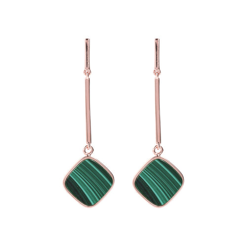 Mother of Pearl and Malachite Reversible Earrings
