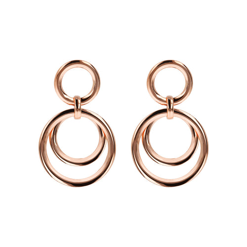 Multi Circle Earrings Golden Rosè
