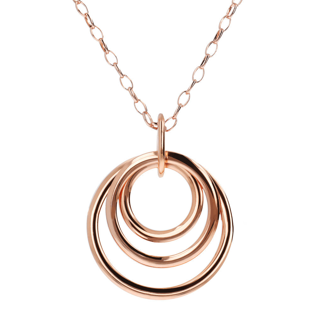 Multi Circle Necklace Golden Rose