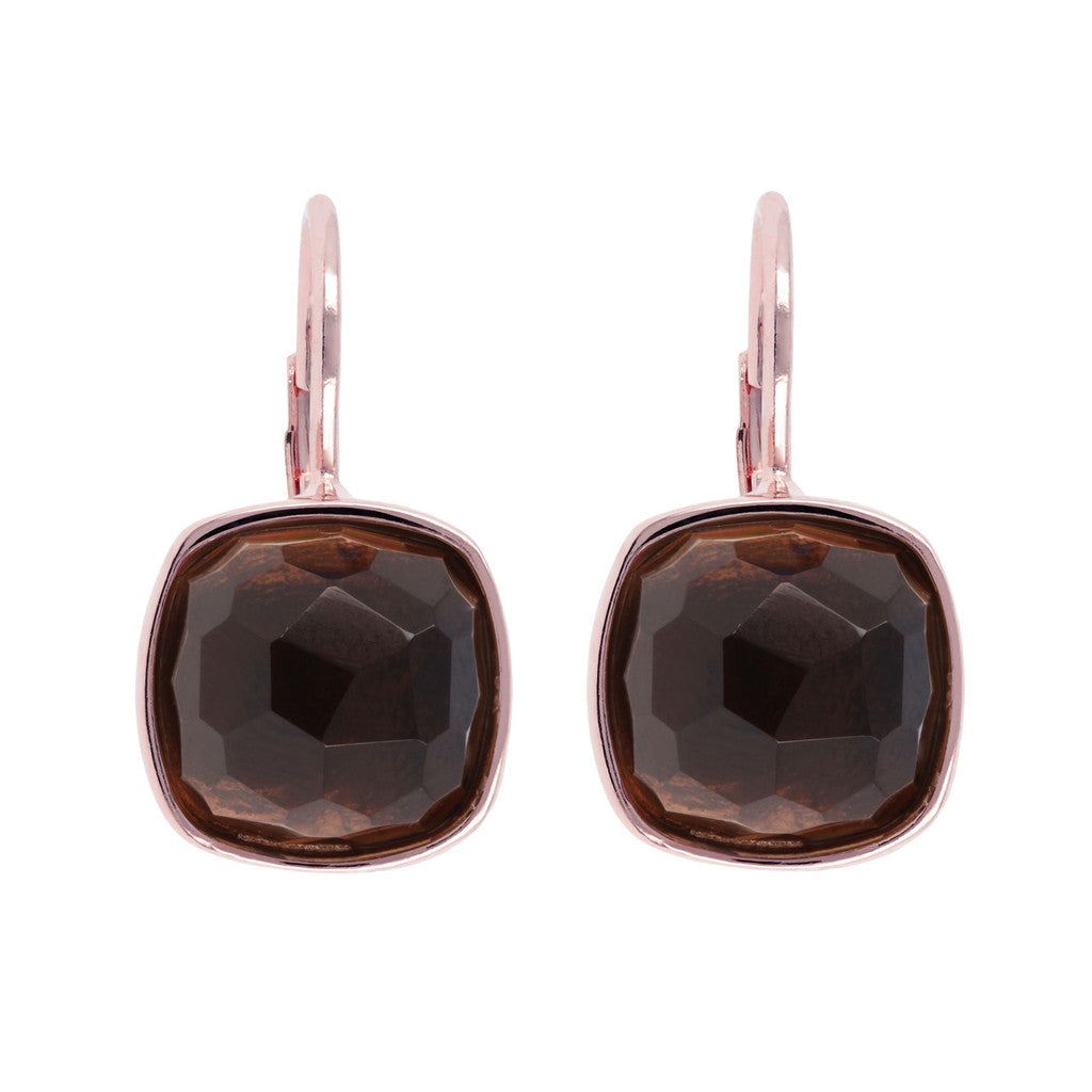 Multi Colored Gemstone Earrings SMOKY QUARTZ